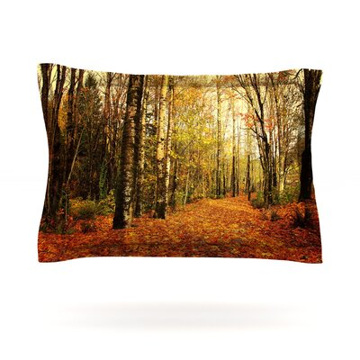 Autumn Leaves by Sylvia Cook Featherweight Pillow Sham Size: Queen, Fabric: Cotton