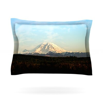 Mt. Rainier by Sylvia Cook Featherweight Pillow Sham Size: Queen, Fabric: Cotton
