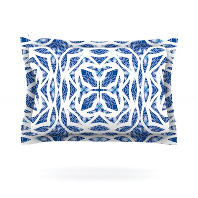 Blue Explosion by Miranda Mol Featherweight Pillow Sham Size: King, Fabric: Cotton