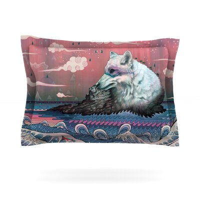 Lone Wolf by Mat Miller Featherweight Pillow Sham Size: King, Fabric: Cotton
