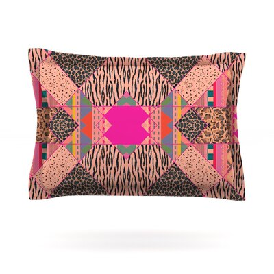 New Wave Zebra by Vasare Nar Featherweight Pillow Sham Size: Queen, Fabric: Cotton