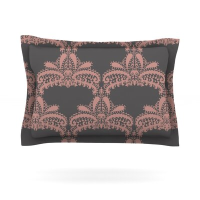 Decorative Motif by Nandita Singh Featherweight Pillow Sham Color: Pink, Size: King, Fabric: Cotton
