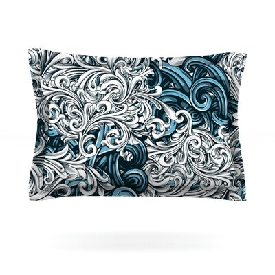 Celtic Floral II by Nick Atkinson Featherweight Pillow Sham Size: Queen, Fabric: Cotton