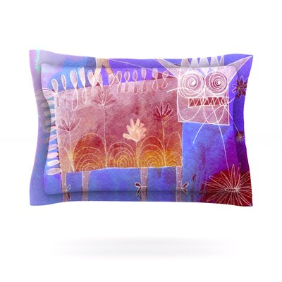 Scary Song About Love by Marianna Tankelevich Featherweight Pillow Sham Size: King, Fabric: Cotton
