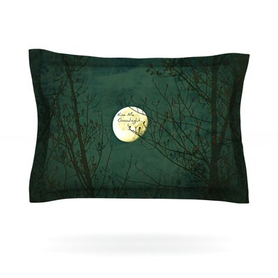 Kiss Me Goodnight by Robin Dickinson Featherweight Pillow Sham Size: Queen, Fabric: Cotton