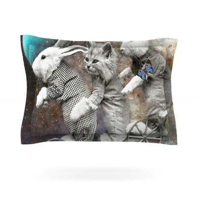 Space Travel by Suzanne Carter Featherweight Pillow Sham Size: King, Fabric: Cotton