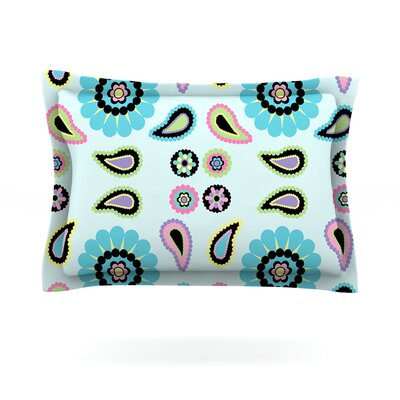 Paisley Candy by Nina May Featherweight Pillow Sham Size: King, Fabric: Cotton