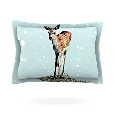 Fawn by Monika Strigel Featherweight Pillow Sham Size: Queen, Fabric: Cotton
