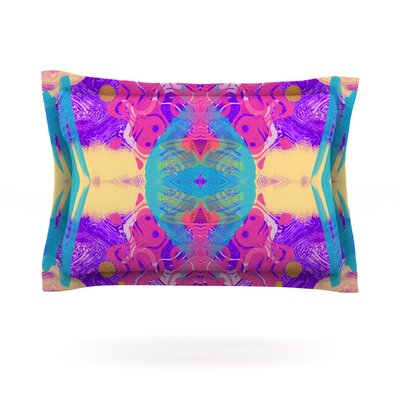 Glitch Kaleidoscope by Vasare Nar Featherweight Pillow Sham Size: King, Fabric: Cotton