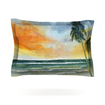 End of Day by Rosie Brown Featherweight Pillow Sham Size: King, Fabric: Cotton