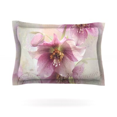 Hellabore by Sylvia Cook Featherweight Pillow Sham Size: Queen, Fabric: Cotton