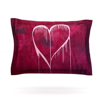 Miss You by Steve Dix Featherweight Pillow Sham Size: King, Fabric: Cotton
