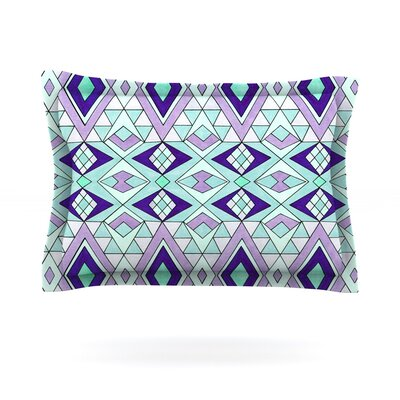 Gems by Pom Graphic Design Featherweight Pillow Sham Size: King, Fabric: Cotton