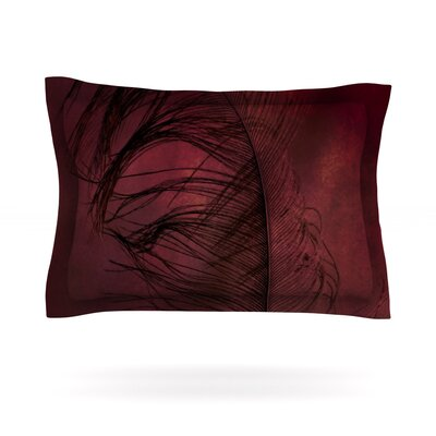 Plumtickled by Robin Dickinson Featherweight Pillow Sham Size: King, Fabric: Cotton
