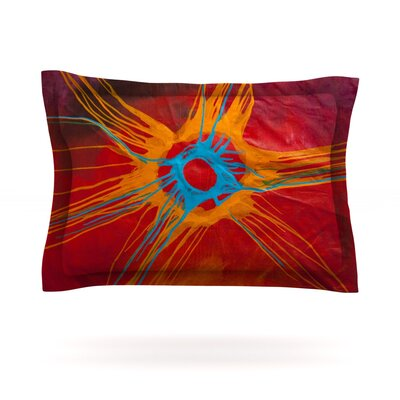 Eclipse by Steve Dix Featherweight Pillow Sham Size: King, Fabric: Cotton