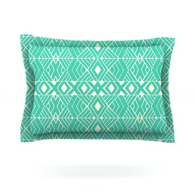 Going Native by Pom Graphic Design Featherweight Pillow Sham Size: Queen, Fabric: Cotton