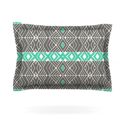 Going Tribal by Pom Graphic Design Featherweight Pillow Sham Size: King, Fabric: Cotton