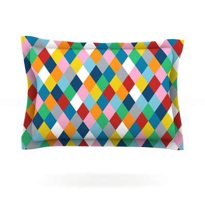 Harlequin Zoom by Project M Featherweight Pillow Sham Size: King, Fabric: Cotton