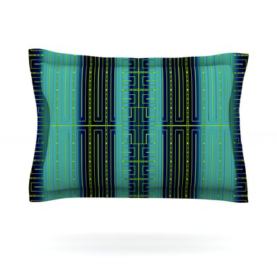 Deco City by Nina May Featherweight Pillow Sham Size: King, Fabric: Cotton