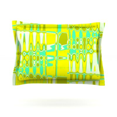 Changing Gears in Sunshine by Vikki Salmela Featherweight Pillow Sham Size: King