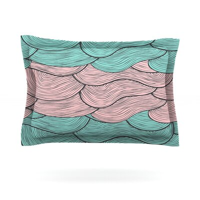 Summerlicious by Pom Graphic Design Featherweight Pillow Sham Size: Queen, Fabric: Cotton