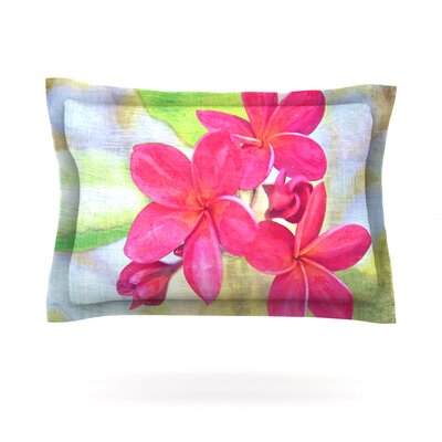 Plumeria by Sylvia Cook Featherweight Pillow Sham Size: Queen, Fabric: Cotton