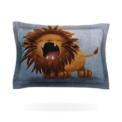 Dandy Lion by Rachel Kokko Featherweight Pillow Sham Size: Queen, Fabric: Cotton