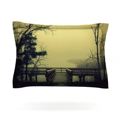 Fog on the River by Robin Dickinson Featherweight Pillow Sham Size: Queen, Fabric: Cotton