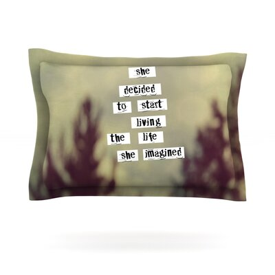 Her Life by Rachel Burbee Featherweight Pillow Sham Size: Queen, Fabric: Cotton