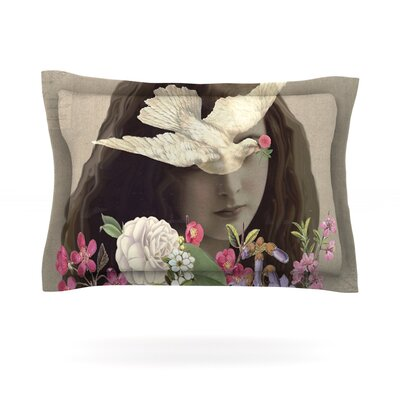 Doves Eyes by Suzanne Carter Featherweight Pillow Sham Size: King, Fabric: Cotton