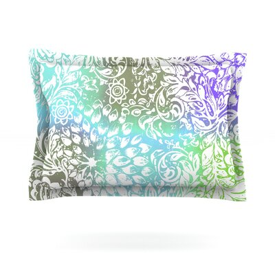 Blue Bloom Softly for You by Vikki Salmela Featherweight Pillow Sham Size: King, Fabric: Cotton