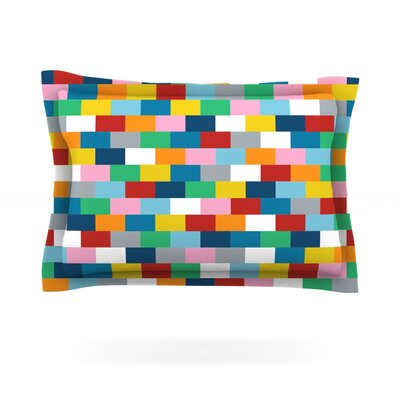 Bricks by Project M Featherweight Pillow Sham Size: King, Fabric: Cotton