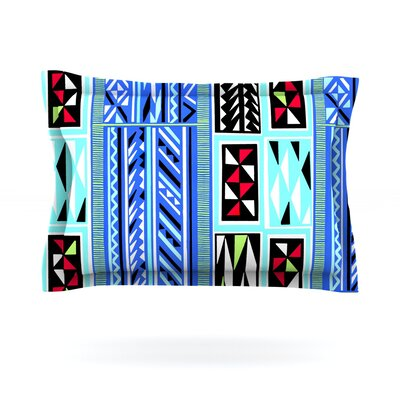 American Blanket Pattern by Vikki Salmela Featherweight Pillow Sham Size: Queen, Fabric: Cotton
