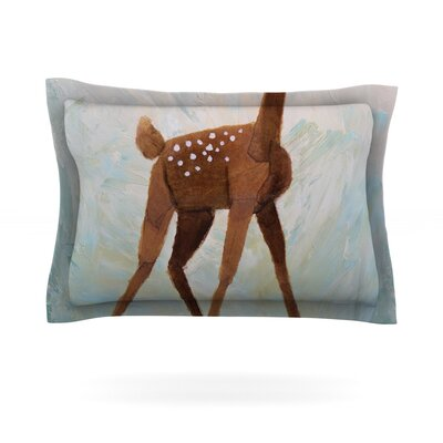 Oh Deer by Rachel Kokko Featherweight Pillow Sham Size: Queen, Fabric: Cotton