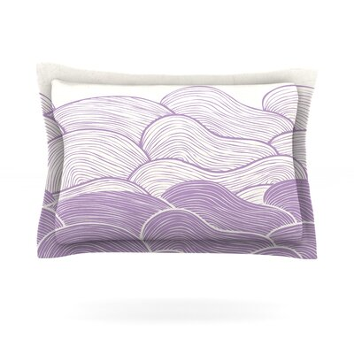 The Lavender Seas by Pom Graphic Design Featherweight Pillow Sham Size: King, Fabric: Cotton