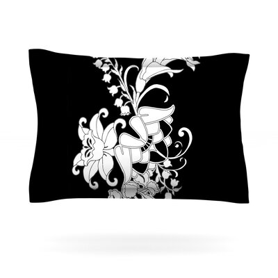 My Garden by Vikki Salmela Featherweight Pillow Sham Size: King, Fabric: Cotton