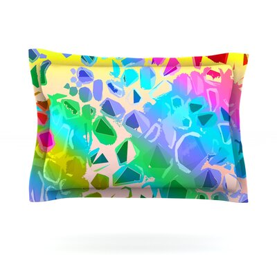 Jungle Talk by Vikki Salmela Featherweight Pillow Sham Size: Queen, Fabric: Cotton