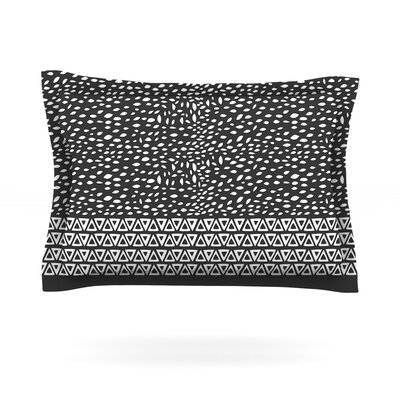 Wind Night by Pom Graphic Design Featherweight Pillow Sham Size: King, Color: Black, Fabric: Cotton