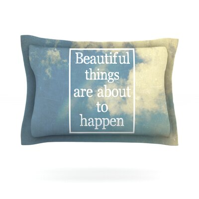 Beautiful Things by Rachel Burbee Featherweight Pillow Sham Size: King, Fabric: Cotton