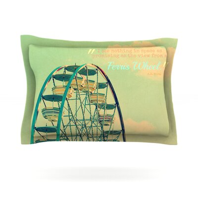 Ferris Wheel by Robin Dickinson Featherweight Pillow Sham Size: Queen, Fabric: Cotton