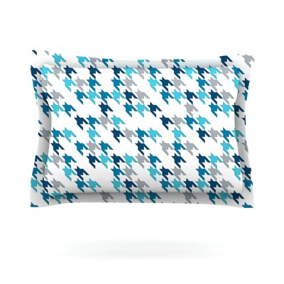 Tooth by Project M Featherweight Pillow Sham Size: King, Color: Blue/White, Fabric: Cotton