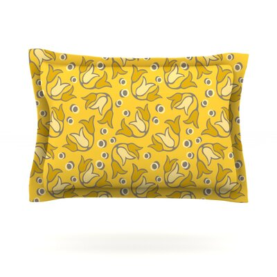 Tulip Toss by Suzie Tremel Featherweight Pillow Sham Size: King, Fabric: Cotton