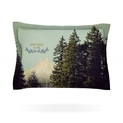 Happy Trails by Robin Dickinson Featherweight Pillow Sham Size: Queen, Fabric: Cotton