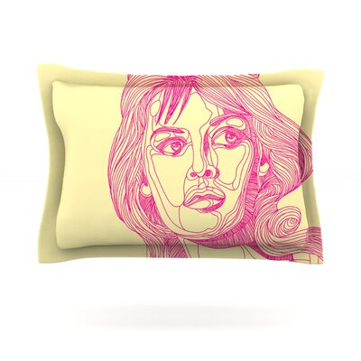 Bardot by Roberlan Featherweight Pillow Sham Size: Queen, Fabric: Cotton