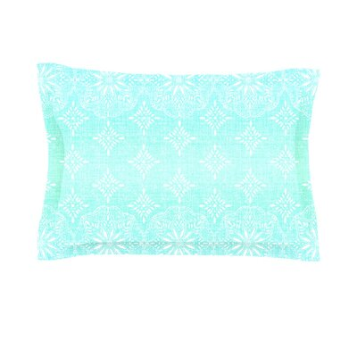 Medallion Ombre by Suzie Tremel Featherweight Pillow Sham Size: King, Color: Blue, Fabric: Cotton