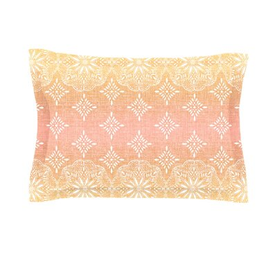Medallion Ombre by Suzie Tremel Featherweight Pillow Sham Size: King, Color: Pink, Fabric: Cotton