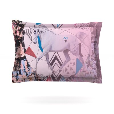 Unicorn by Vasare Nar Featherweight Pillow Sham Size: King, Fabric: Cotton