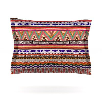 Native Tessellation by Vasare Nar Featherweight Pillow Sham Size: Queen, Fabric: Cotton