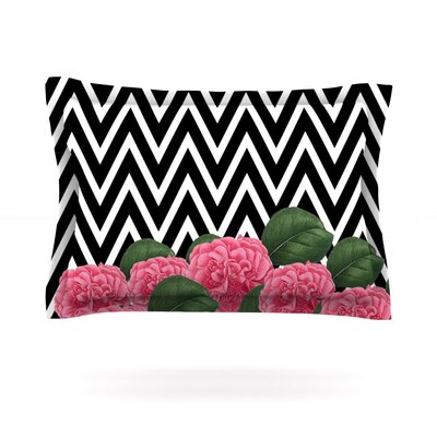 Camellia by Suzanne Carter Featherweight Pillow Sham Size: King, Fabric: Cotton