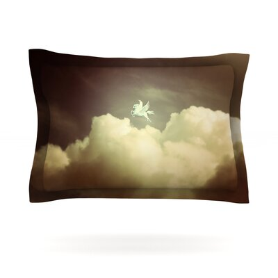 Pegasus by Richard Casillas Featherweight Pillow Sham Size: Queen, Fabric: Cotton